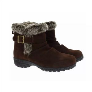 NIB KHOMBU LINDSEY Faux Fur Lined Boot, Brown